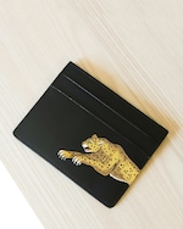 Alepel Leopard Vegan Leather Card Holder 2