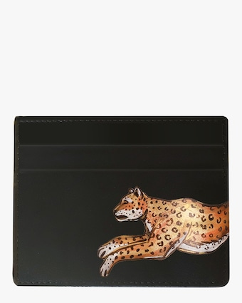 Leopard Vegan Leather Card Holder