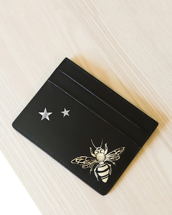 Alepel Queen Bee & Stars Vegan Leather Card Holder 2