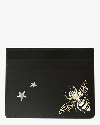 Queen Bee & Stars Vegan Leather Card Holder