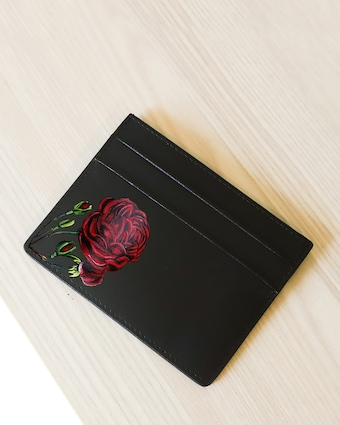 Alepel Rose Vegan Leather Card Holder 2