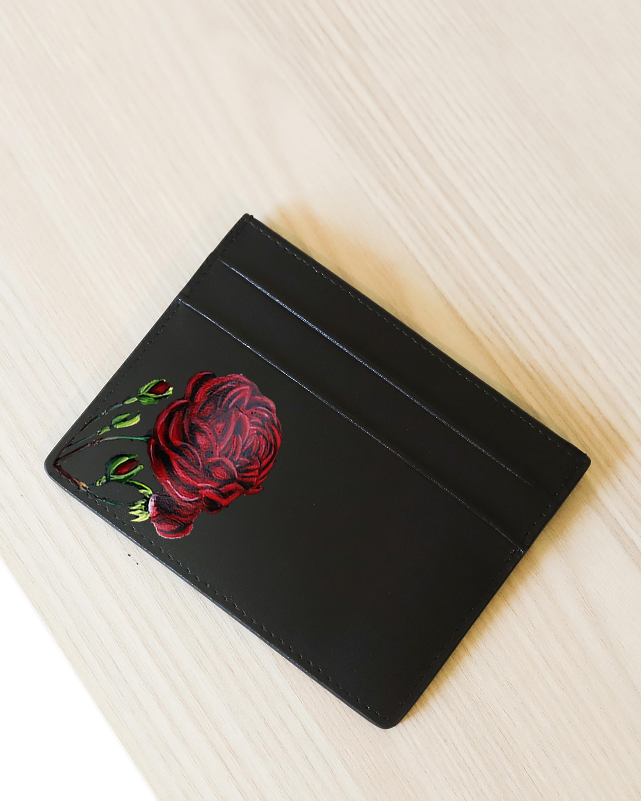 Alepel Rose Vegan Leather Card Holder 1
