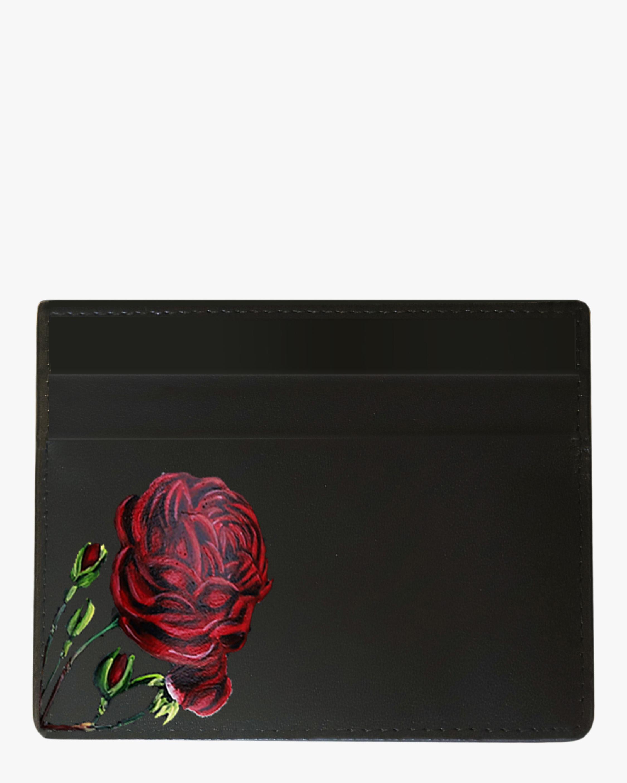 Alepel Rose Vegan Leather Card Holder 0