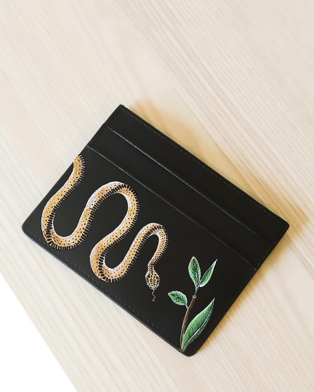 Alepel Serpent Vegan Leather Card Holder 2