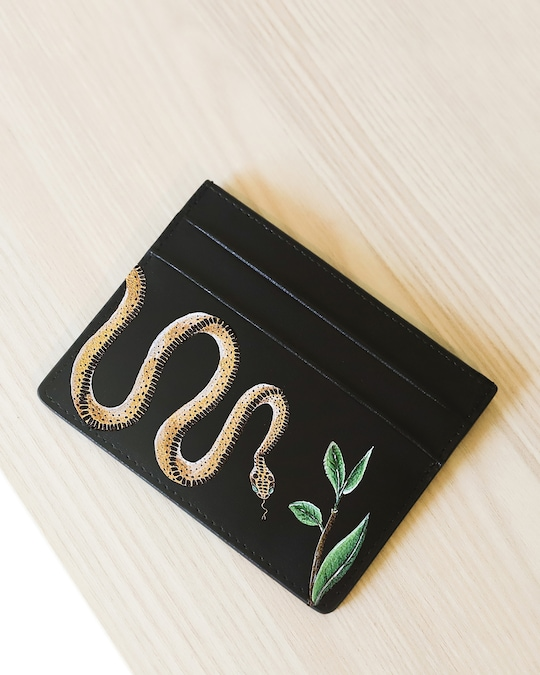 Alepel Serpent Vegan Leather Card Holder 1