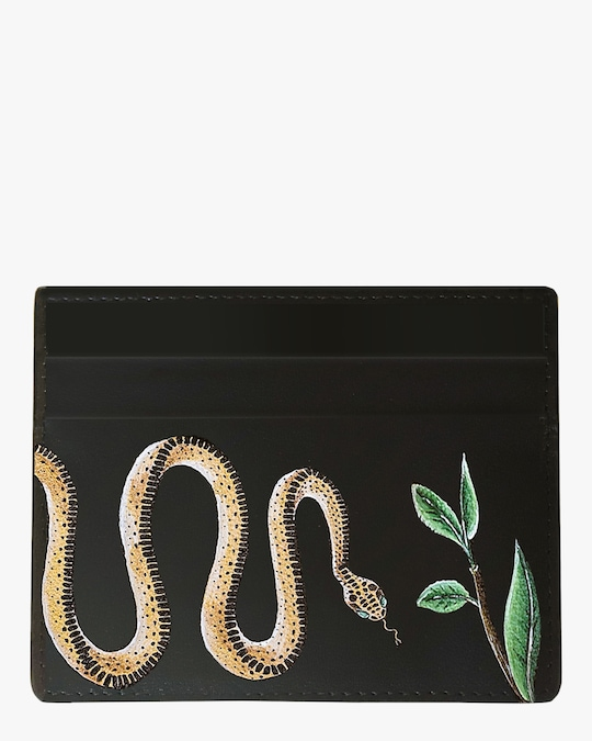 Alepel Serpent Vegan Leather Card Holder 0