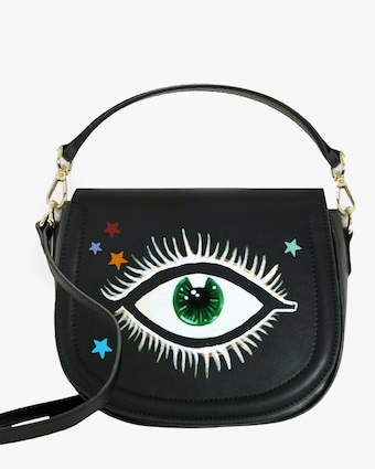 Eyes and Stars Faux-Leather Bag