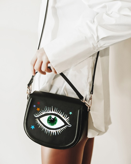 Alepel Eyes and Stars Vegan Leather Bag 1