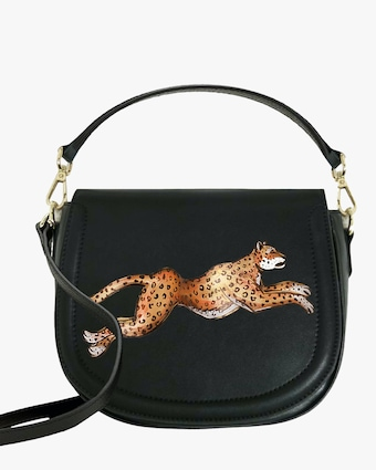 Leopard Faux-Leather Bag