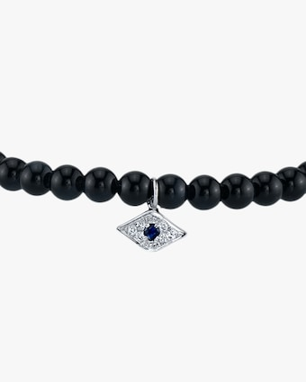Men's Pavé Evil Eye Beaded Bracelet