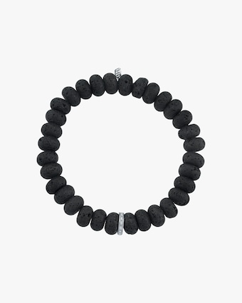 Men's Lava Rondelle Beaded Bracelet