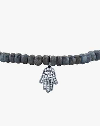 Men's Pavé Hamsa Beaded Bracelet