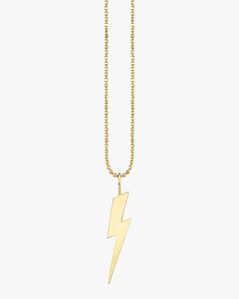 Men's Large Lightning Bolt Pendant Necklace