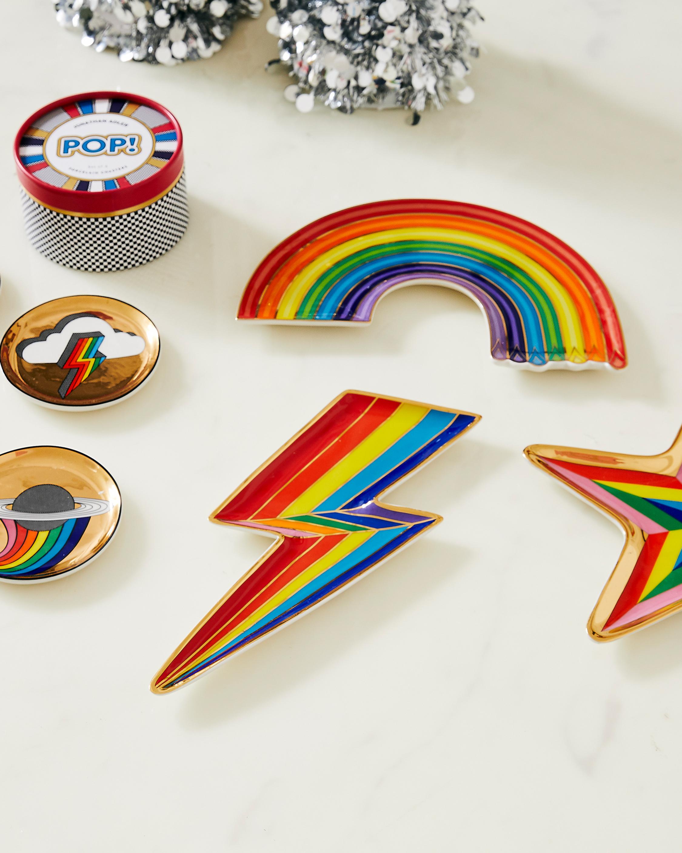 Jonathan Adler Dripping Rainbow Trinket Tray 1