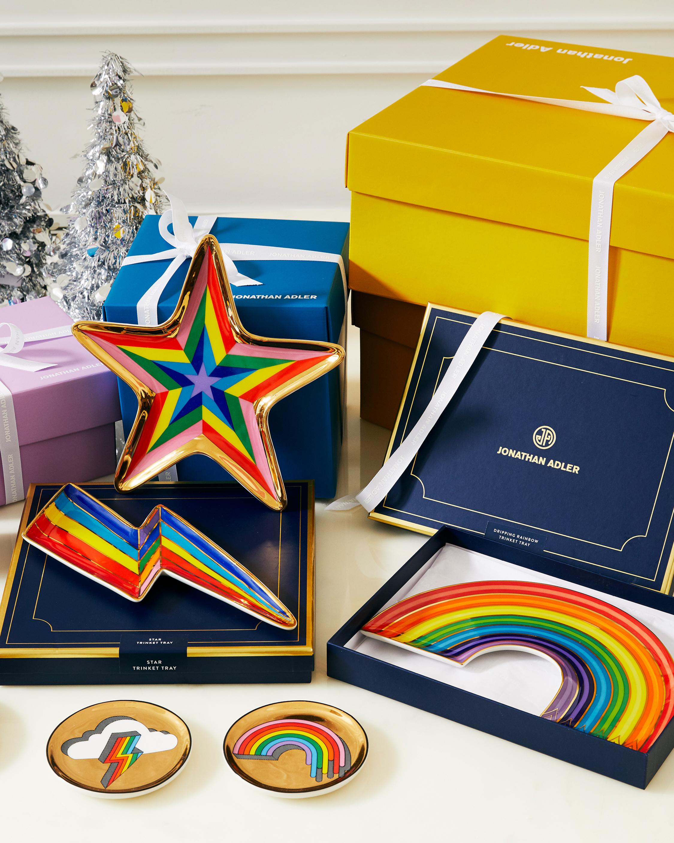 Jonathan Adler Dripping Rainbow Trinket Tray 5