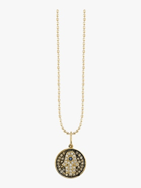 Small Hamsa Medallion Necklace