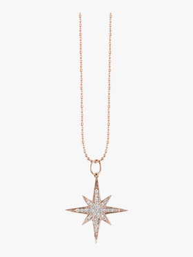 Medium Pave Starburst Necklace