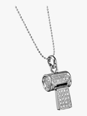 Pave Whistle Chrarm Necklace