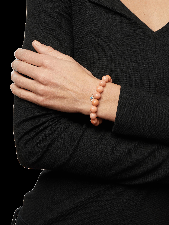 Large Bezel Evil Eye Charm Bracelet