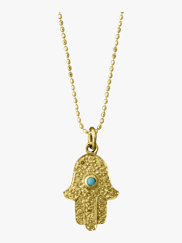 Medium Hamsa Charm Necklace