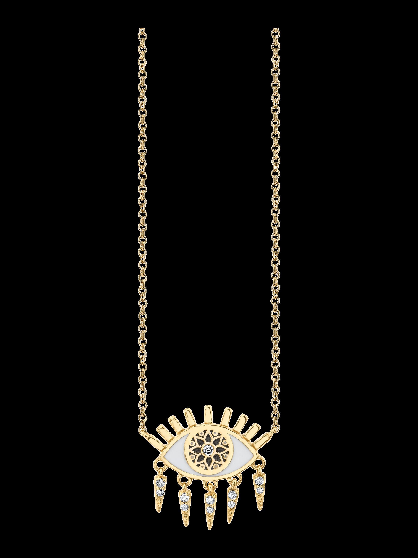 Kaleidoscope Eye Fringe Necklace