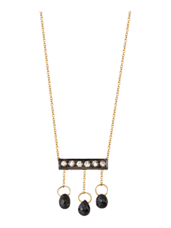 Diamond Briolette Mini Bar Necklace