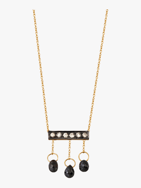 Diamond Briolette Mini Bar Necklace
