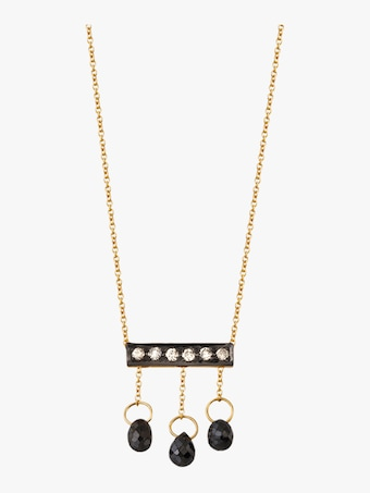 Harika Diamond Briolette Mini Bar Necklace 1