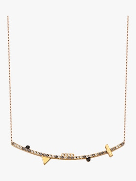 Geometric Curved Bar Necklace
