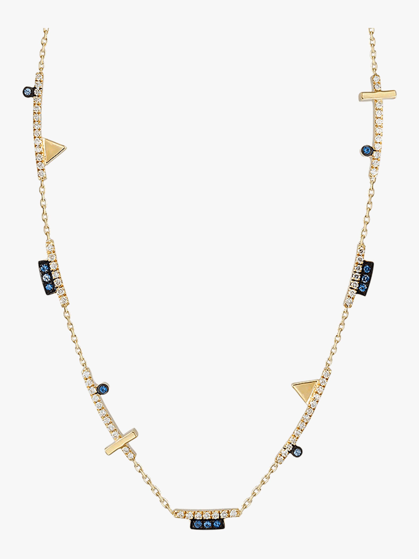 Geometric Long Cut-Out Necklace