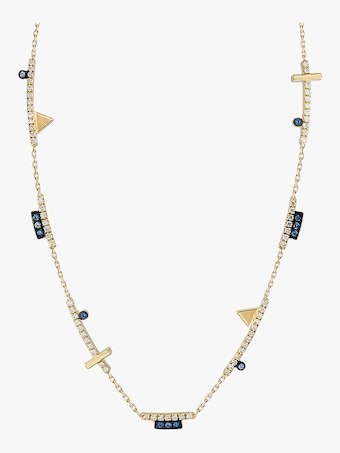 Geometric Long Cut-Out Necklace