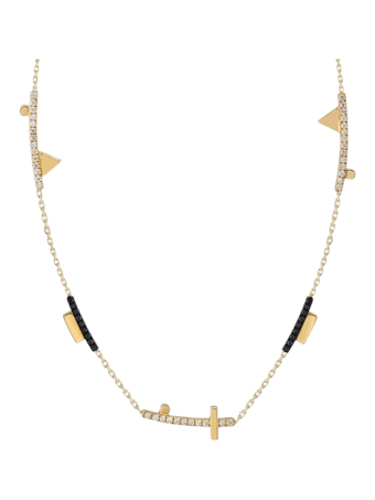 Geometric Short Cut-Out Necklace