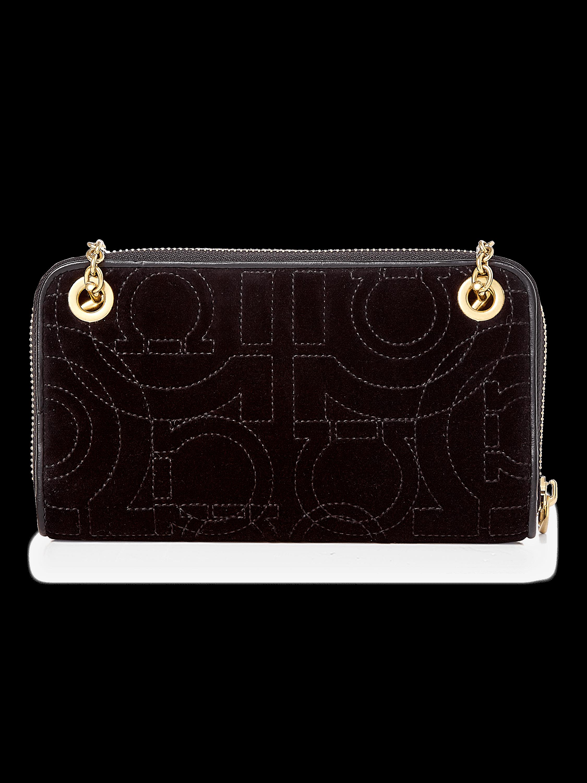 Gancino Quilted Velvet Chain Wallet Bag