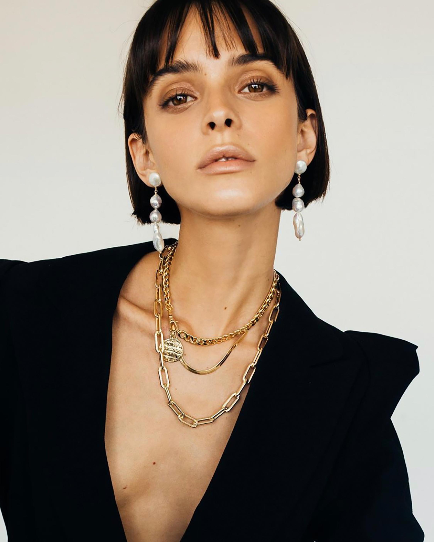 Joolz by Martha Calvo Baroque Pearl Drop Earrings 1