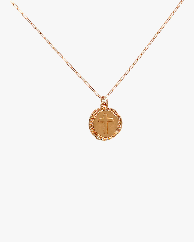 Joolz by Martha Calvo Cross Coin Pendant Necklace 1