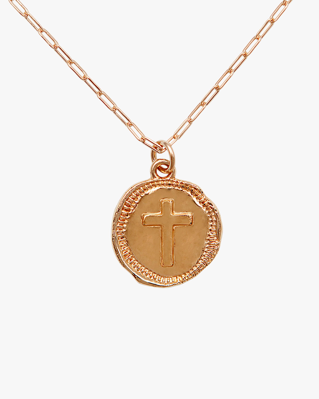 Joolz by Martha Calvo Cross Coin Pendant Necklace 2