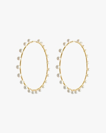 Infinity Pearl Hoop Earrings