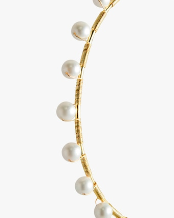 Joolz by Martha Calvo Infinity Pearl Hoop Earrings 2