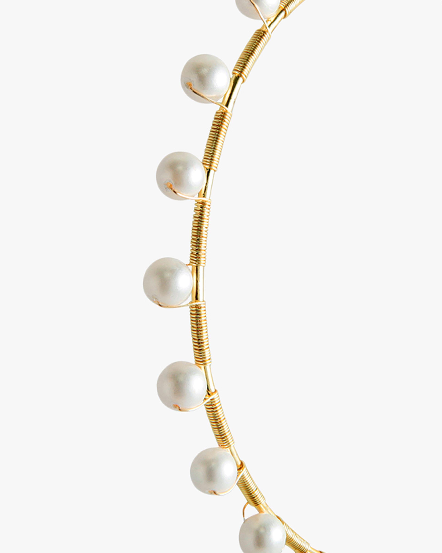 Joolz by Martha Calvo Infinity Pearl Hoop Earrings 1