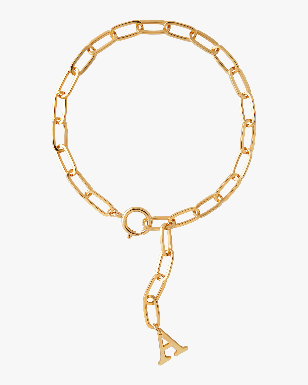 Initial Lariat Necklace