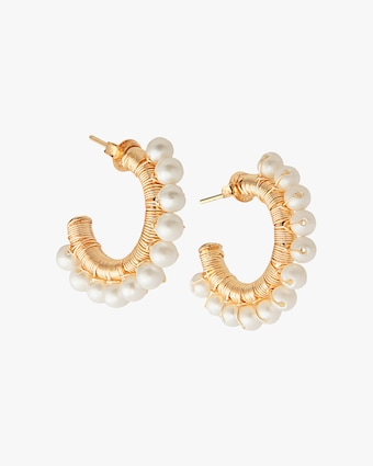 Joolz by Martha Calvo Mini Capri Hoop Earrings 1