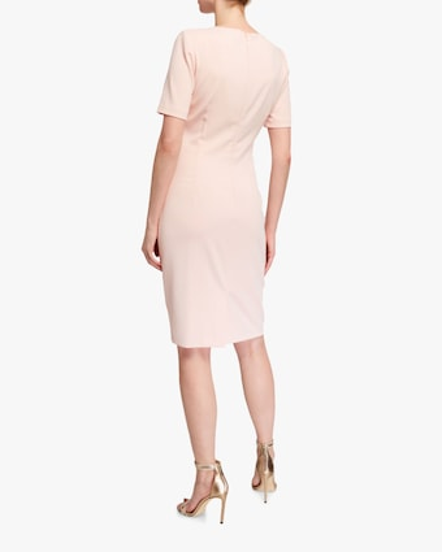 Knotted Neck Sheath Dress