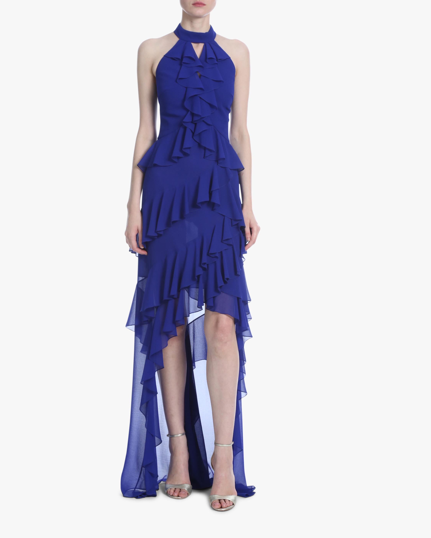 Ruffle Halter Hi-Low Dress