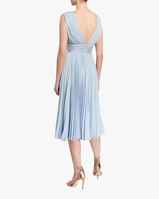 Badgley Mischka Pleated Cocktail Dress 1