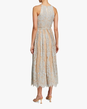 Lace Midi Cocktail Dress
