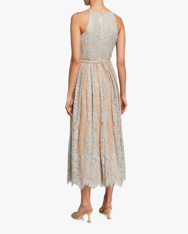 Badgley Mischka Lace Midi Cocktail Dress 1