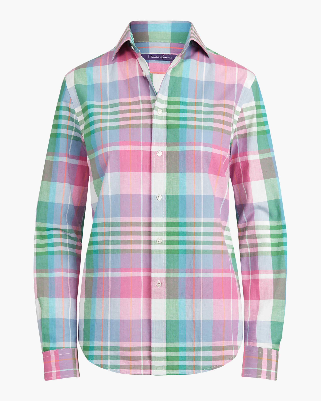 Ralph Lauren Collection Hannah Cotton Madras Shirt 0