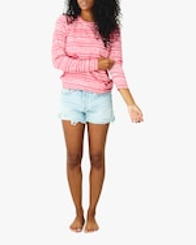 Stripe & Stare Pink Tie Dye Crewneck Sweatshirt 0