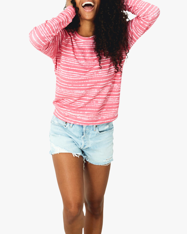 Stripe & Stare Pink Tie Dye Crewneck Sweatshirt 4
