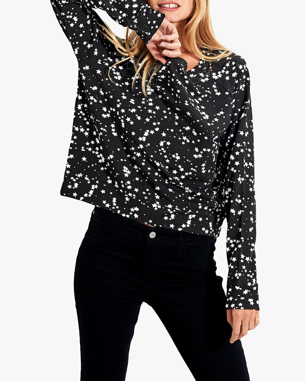 Stripe & Stare Black Star Crewneck Sweatshirt 0